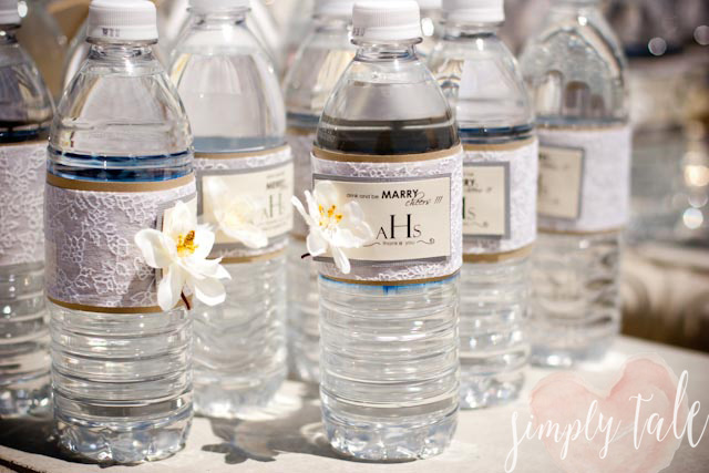 diy wedding, bottle label, elegant, wedding