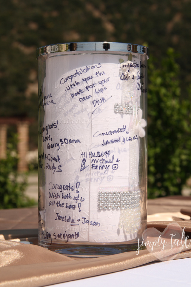 wedding, guest book, guest signing vase