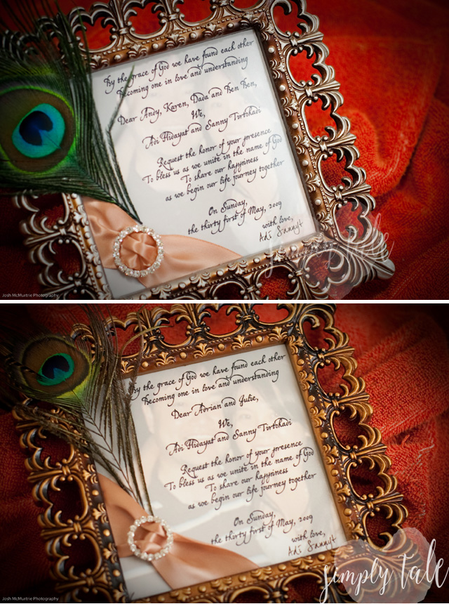invitation, wedding invitation, diy invitation, pciture frame, mirror