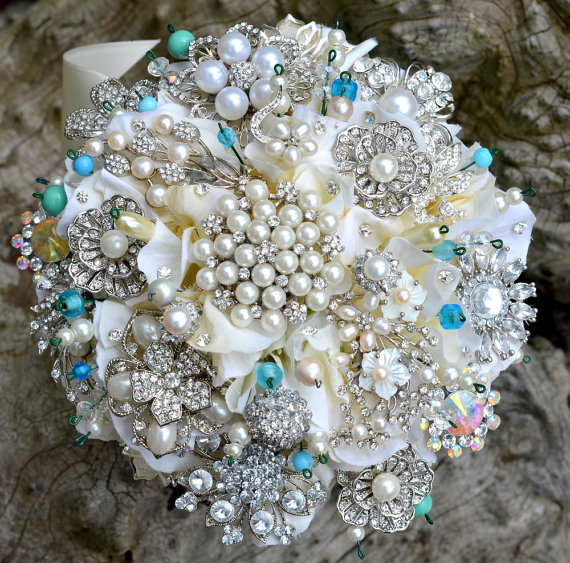 Bridal Bouquet Brooches : Vintage miranda lambert s brooch bouquet simply tale