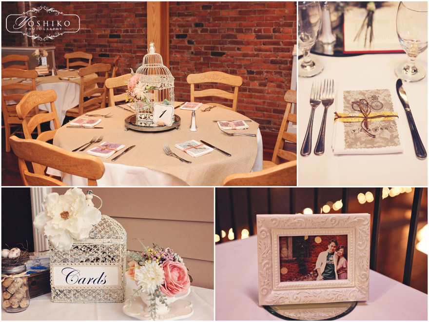 vintage wedding, vintage centerpieces