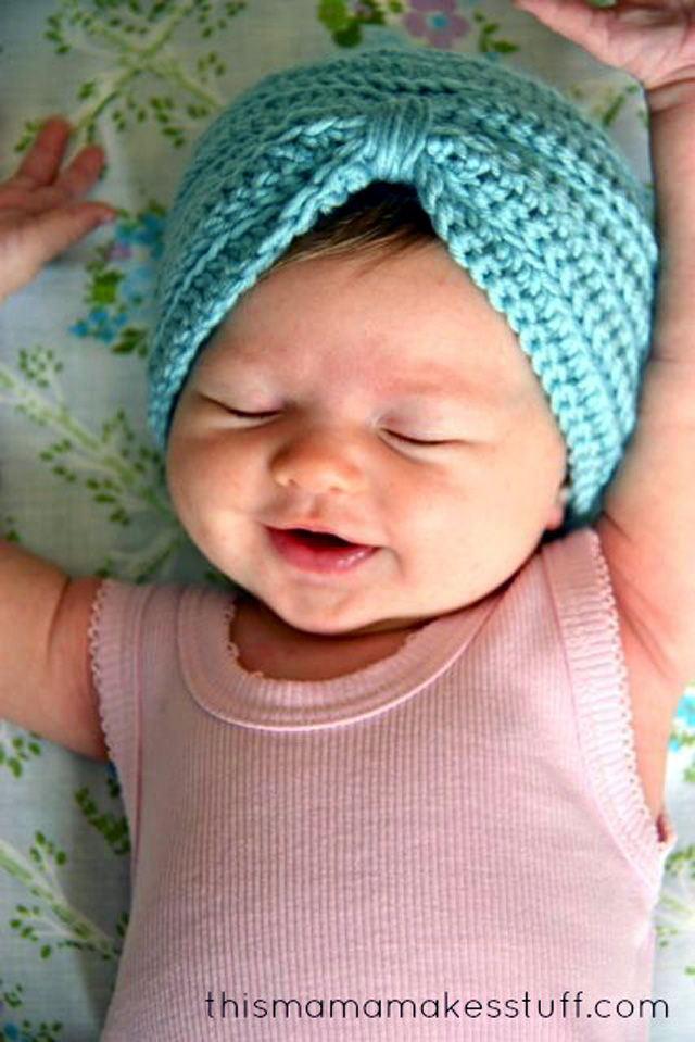 Free Crochet Pattern For Turban Headband : Baby Turban {FREE crochet pattern} Simply Tale