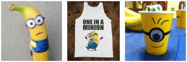 minion banana, t shirt, cups