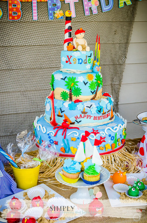 Beach cake, under the sea cake