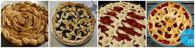 Beautiful pie, Apple pie, Triple Berry pie, Cherry pie, Strawberry apple pie