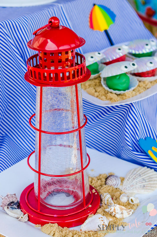 beach party dessert table