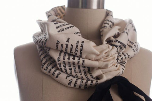 Book scarf, light scarf, turtle neck