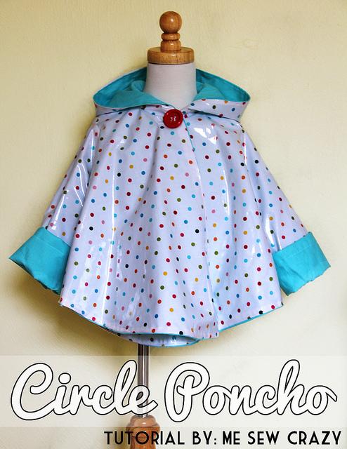 poncho, hooded poncho, poncho for kids, diy poncho