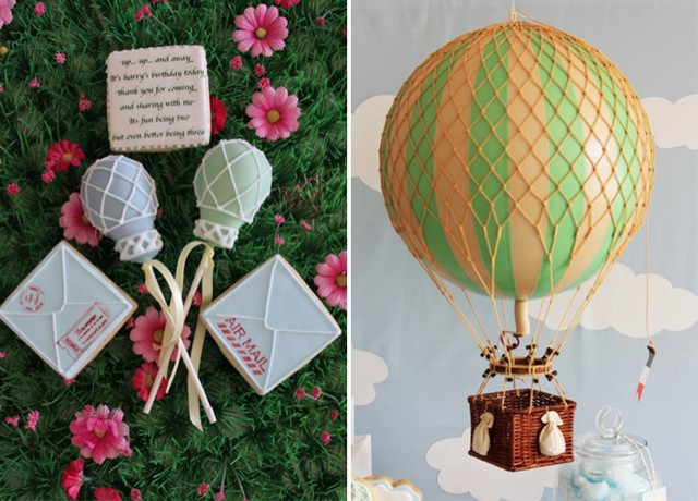 Hot air balloon party, hot air balloon cake, hot air balloon ride
