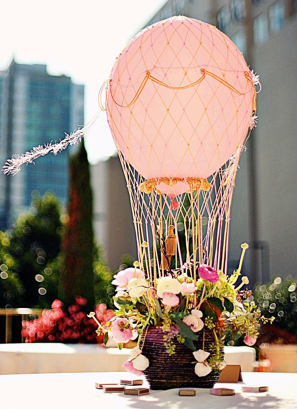 Enchante le ballon d air hot balloon party simply tale