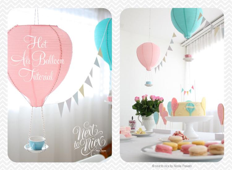 Enchante Le Ballon D Air Hot Air Balloon Party Simply Tale
