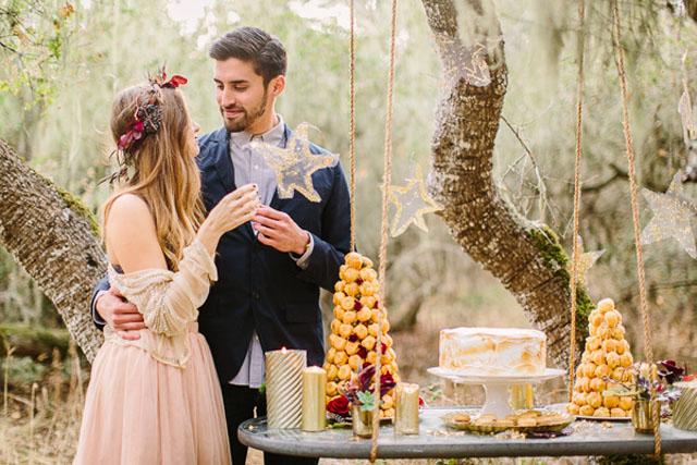 outdoor dessert table, bohemian dessert table