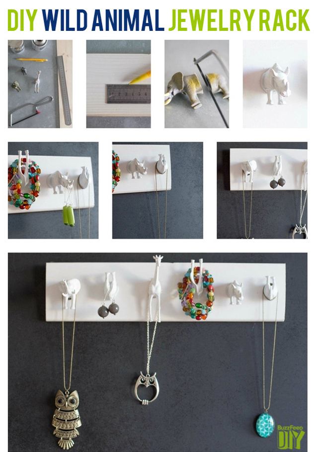 animal jewelry holder, diy jewelry holder, necklace hanger