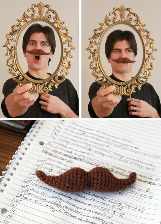 crochet, mustache, crochet mustache