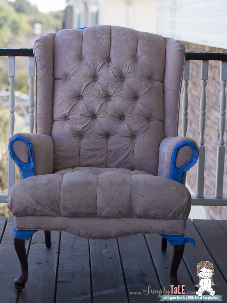 fabric paint fabric spray paint how to paint fabric wing back chair chair upholstery fabric 2