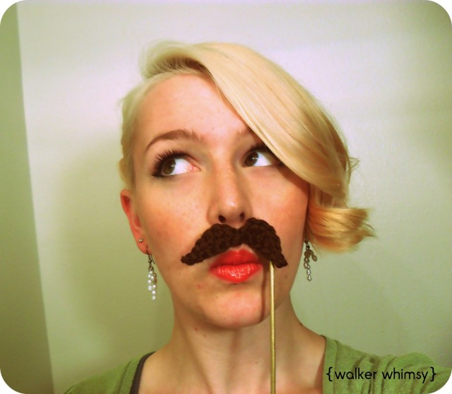 photo booth, crochet, mustache, crochet mustache
