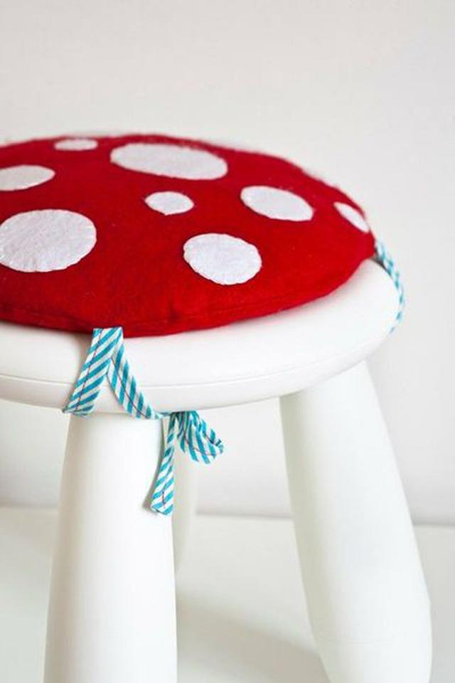 mushroom cushion, ikea