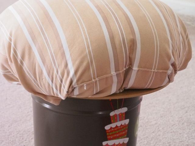 mushroom stool, fairy, diy mushroom stool