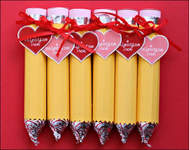 valentine, valentines gift, gift exchange, chocolate, valentine gift for boys. chocolate pencil, candy pencil