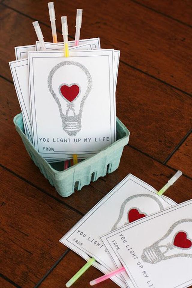 valentine, valentines gift, gift exchange, chocolate, valentine gift for boys, glow stick