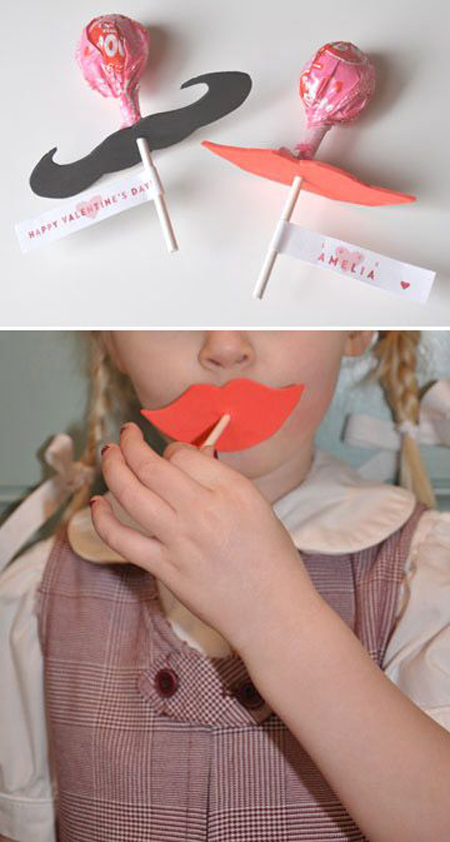 valentine, valentines gift, gift exchange, chocolate, valentine gift for boys, mustache, lips