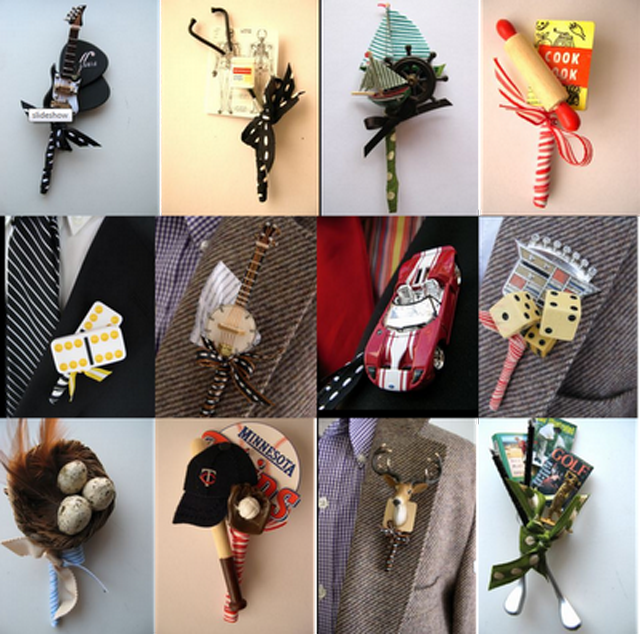 Unique Ideas For Groom's And Groomsman's Boutonnieres