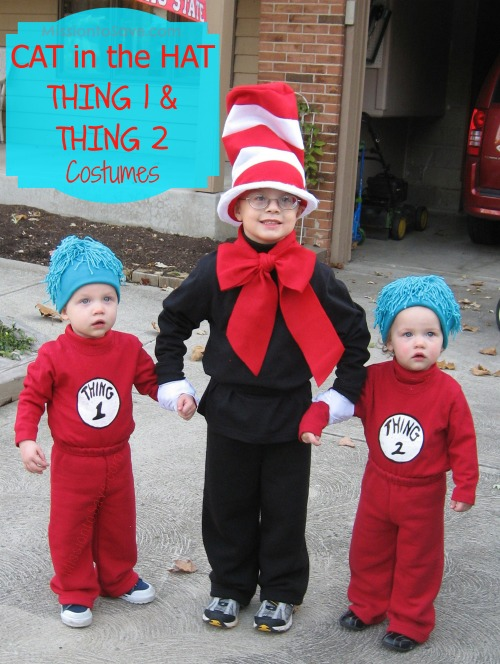 dr seuss, thing 1, thing 2, cat in the hat
