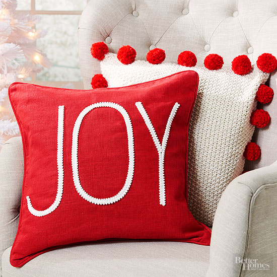pillow, christmas pillow, diy christmas pillow