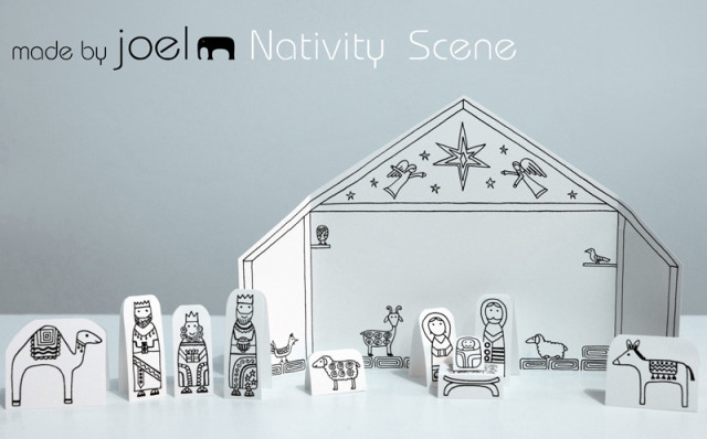 diy nativity, paper nativity