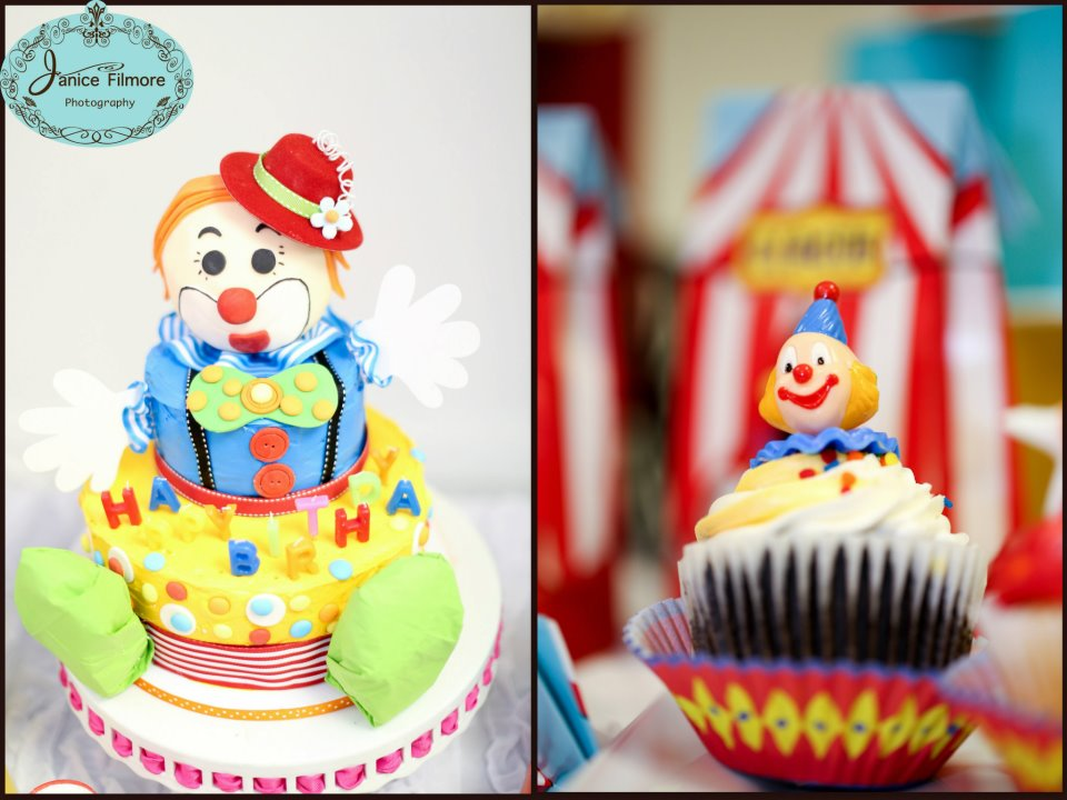 1st Birthday Carnival Birthday With A Clown Cake Simply Tale