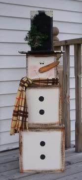 diy snowman, snowman, box snowman