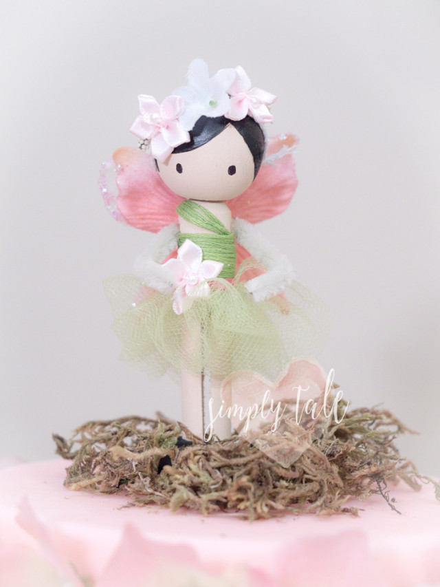 fairy, clothespin doll, wooden doll