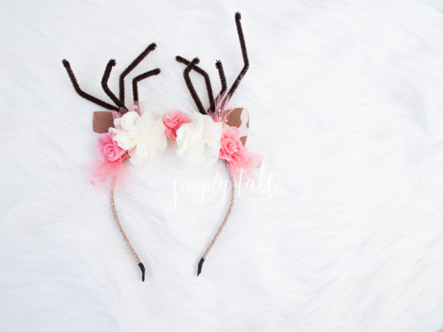 reindeer crown, headband, reindeer, headpiece, accessories, for sale, etsy