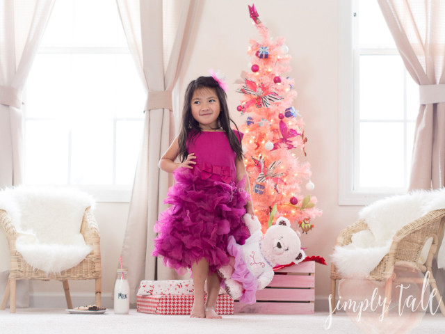 pink christmas, savannah, xevana, pink cherry belle, fashion, kids model, playdoh