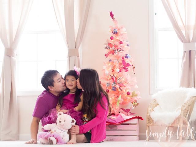 pink christmas, savannah, xevana, pink cherry belle, fashion, kids model, family, built a bear