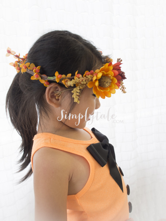 big bow, diy tank tops, scarecrow, pumpkin patch, orange top, fall crown, crown, headpiece
