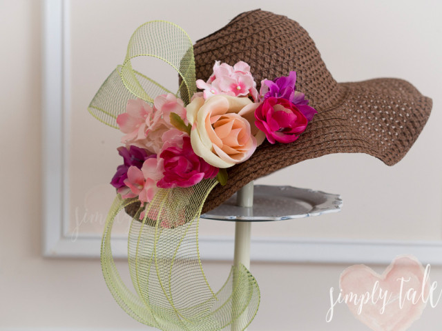 Top it off diy derby hats simply tale for How to decorate a hat for a tea party