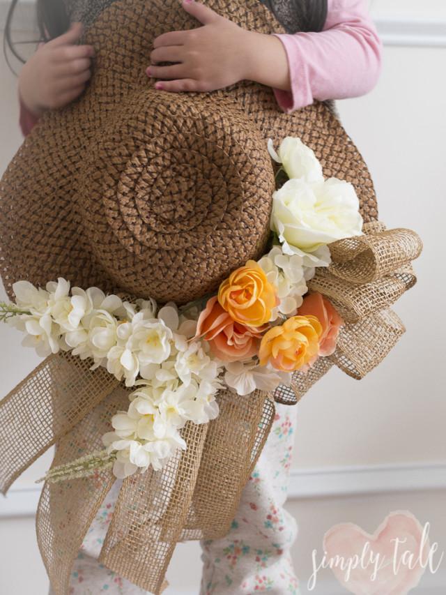 spring hat, derby hat, kentucky derby, diy hat, spring, vintage hat, burlap
