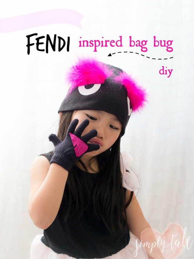 fendi, Fendi inspired, monster beanie, bag bug beanie, little monster beanie