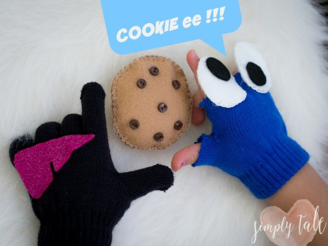 cookie monster, cookie monster gloves, sesame street, fendi gloves, fendi monster, fendi gloves diy