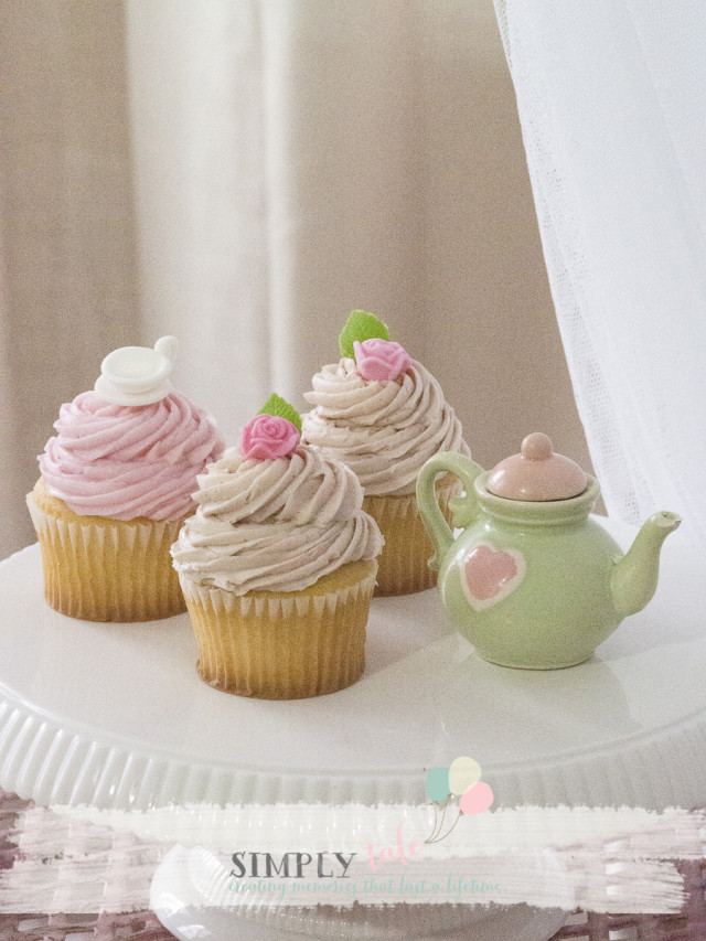 tea party, cupcake, pastel, girl's party, birthdaycupcakes