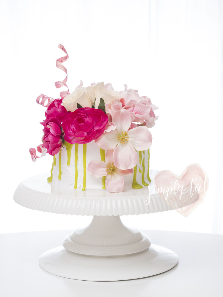 Rustic Cake With Line Frosting Name
