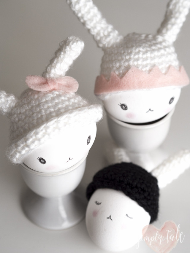 egg cozy, crochet egg cozy, egg warmer, fifi lapin, easter, bunny, bunny egg warmer