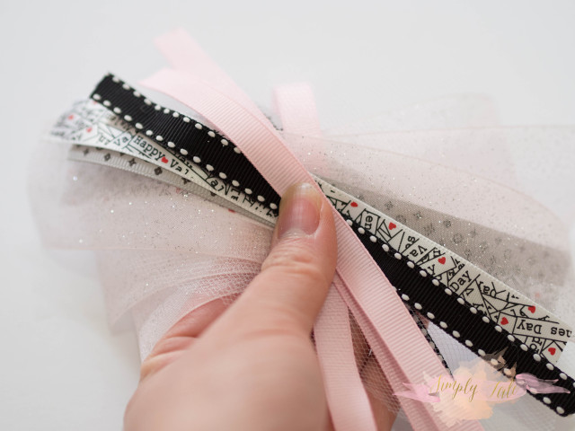 scarp ribbon, scrapbooking, bow, hair accessories, easy bow