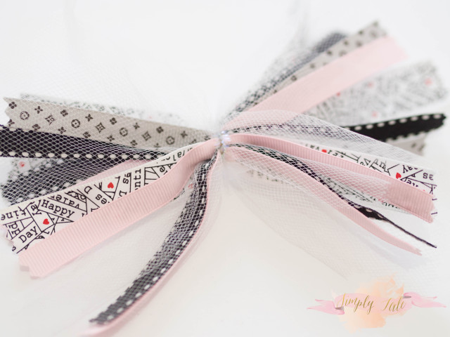 ribbon, tulle, scarp ribbon, scrapbooking, bow, hair accessories, easy bow