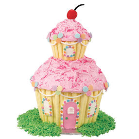 giant cupcake, home cake, giant cupcake cake