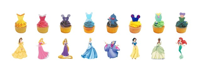 Princess Aurora cupcake, disney princesses, aurora, sleeping beauty, disney birthday, princess cupcakes, frozen, elsa, anna, snow white, jasmine, ariel, fairy godmother, rapunzel, belle, tiana