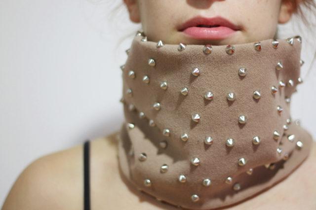 diy collar, ps i made this, neck warmer, stylish, swag, fashion, rock and roll, punk, diy neck warmer