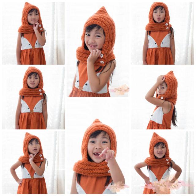crochet, fall, crochet cowl, orange, fox