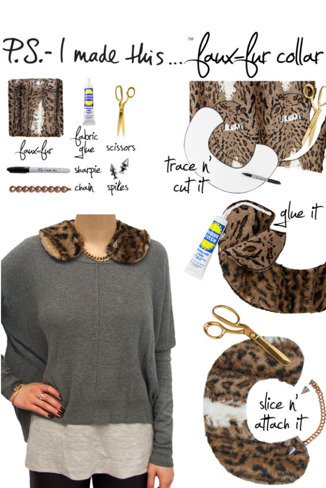 diy collar, ps i made this, neck warmer, stylish, swag, fashion, rock and roll, punk